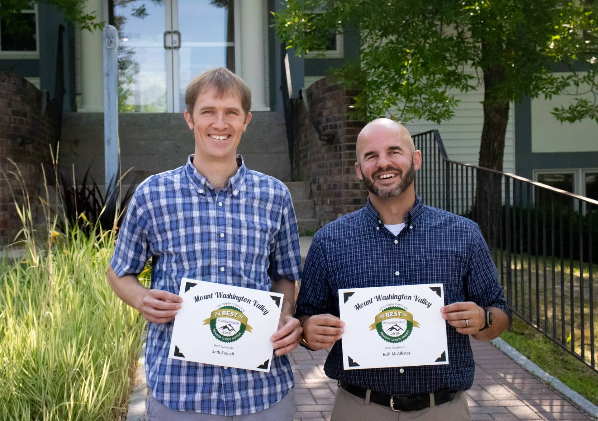 Seth Burnell (left) and Josh McAllister (right) awarded during the 2019 MWV Best of the Valley.